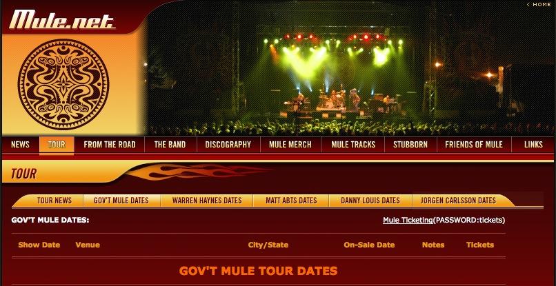GM Tour Dates